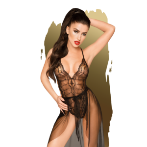 Penthouse Teddy Best Foreplay Negro Talla M/L
